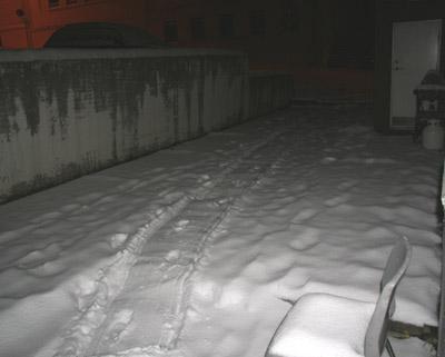 schnee vor meiner tür