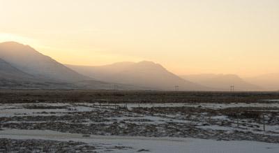 sonne im fjord