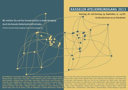Kasseler Atelierrundgang 2013 - Einladung