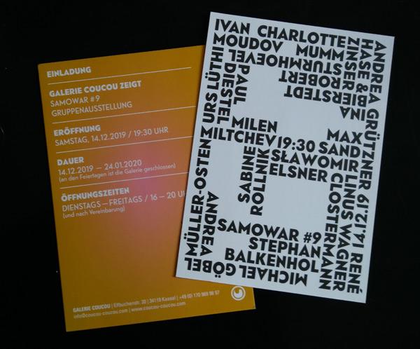 samowar#9 - Gruppenausstellung in der Galerie Coucou